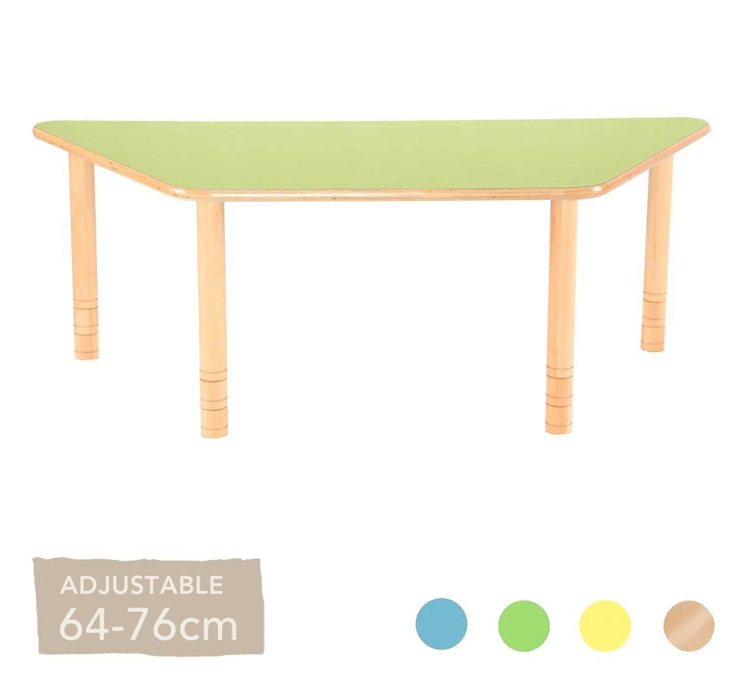 Flexi Trapezial Table - 64-76cm - All Colours