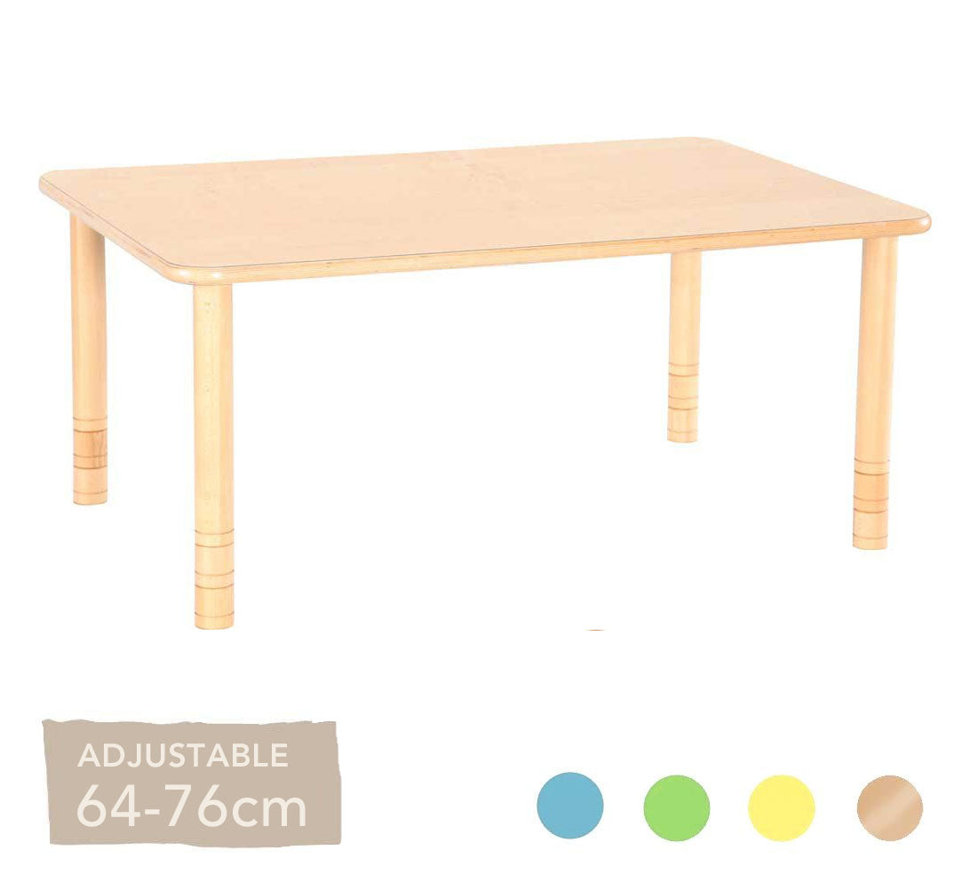 Flexi Rectangular Table - 64-76cm - All Colours