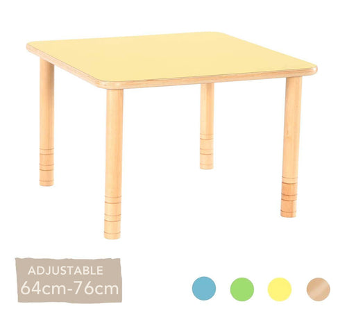 Flexi Square Table - 64-76cm - All Colours