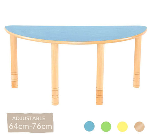 Flexi Half Round Table - 64-76cm - All Colours