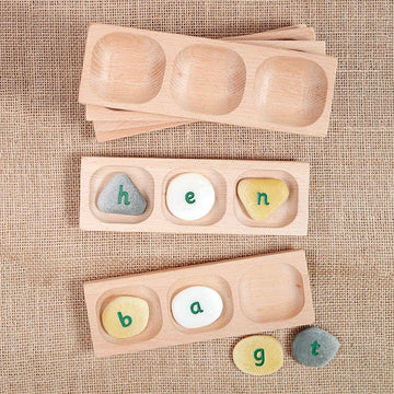 Word Building Trays 3 section 6pk