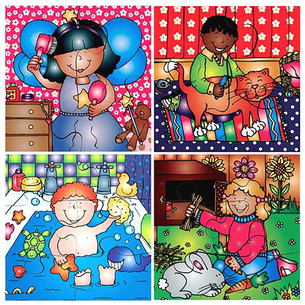 Wooden Looking After Ourselves Jigsaw Puzzle 8pk
