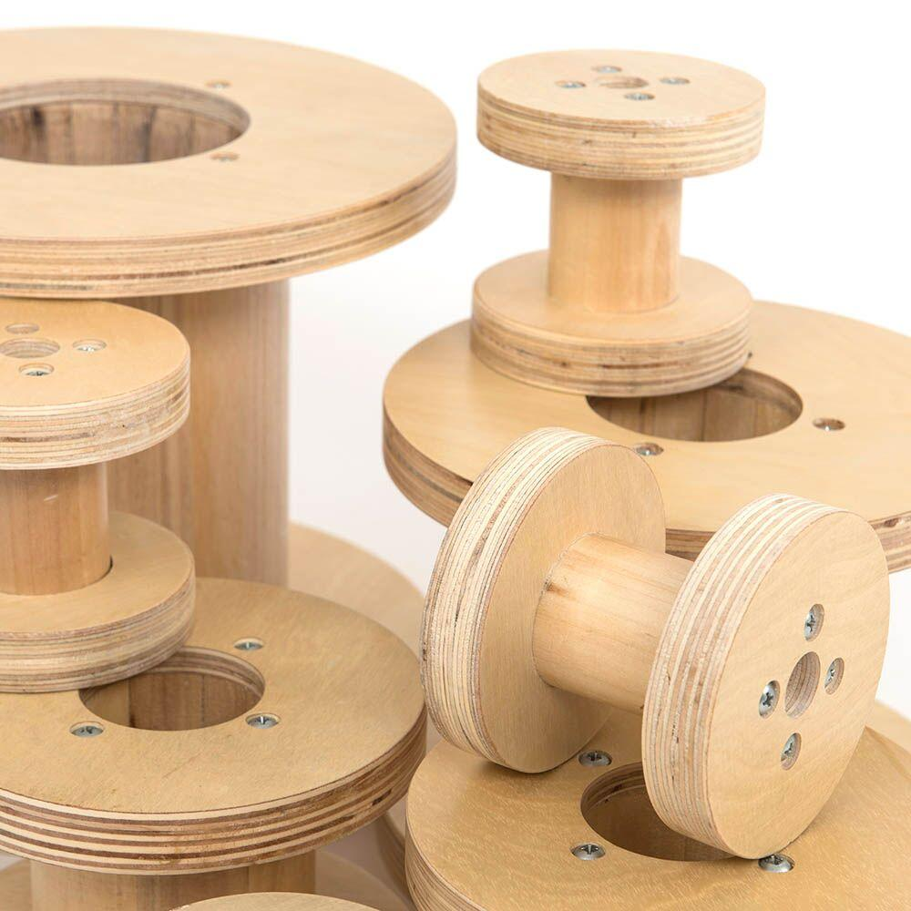 Assorted Outdoor Wooden Reels 8pk