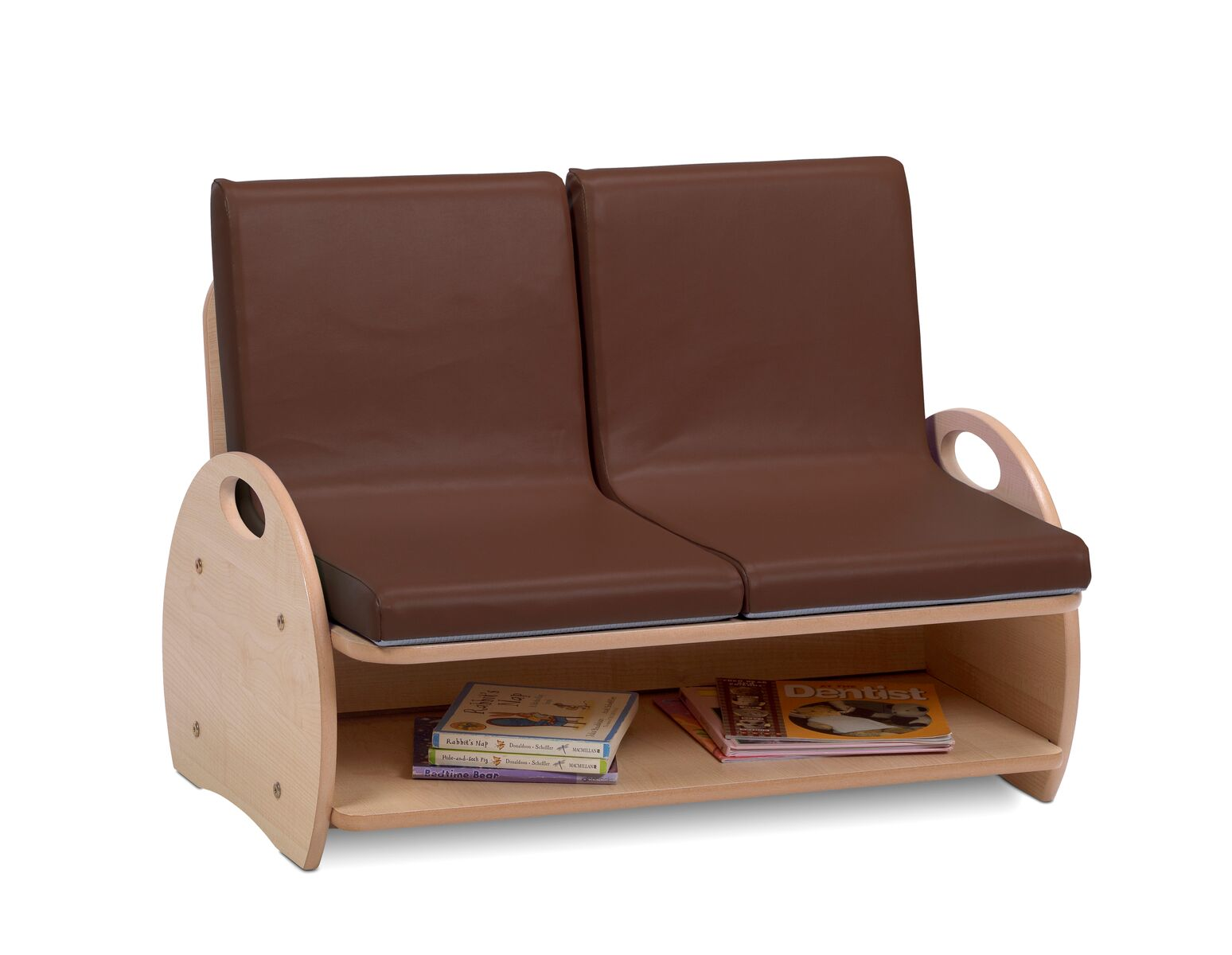 Soft Sofa Seating - 2 Seat Sofa (Brown vinyl)