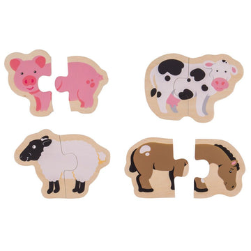 Two Piece Puzzles Pack OF 4 (pk1)