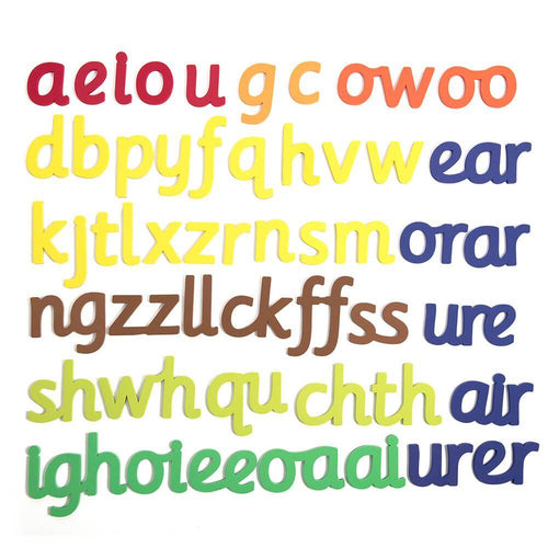 50 Large Magnetic Phonics Letter Sounds 160mm H