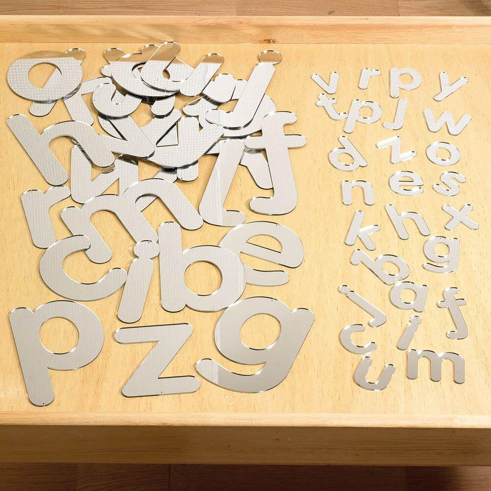 Double Sided Alphabet Mirrored Letters Large 26pk