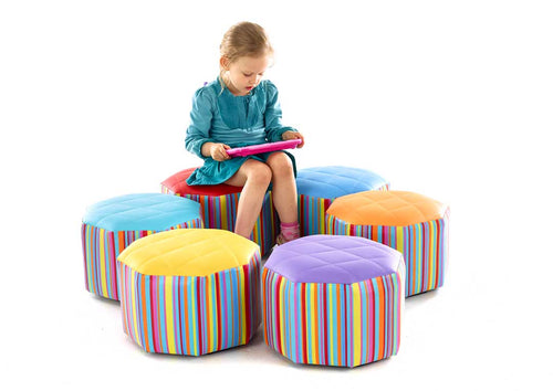 Small Hexagonal Pouffes