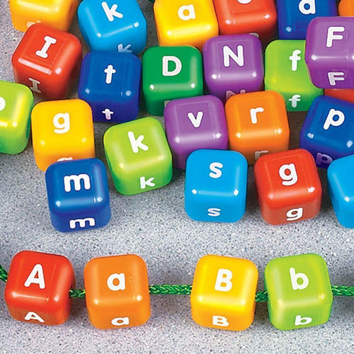 Alphabet Threading Beads 2.5cm