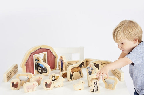 Wooden Farm Blocks 25pcs