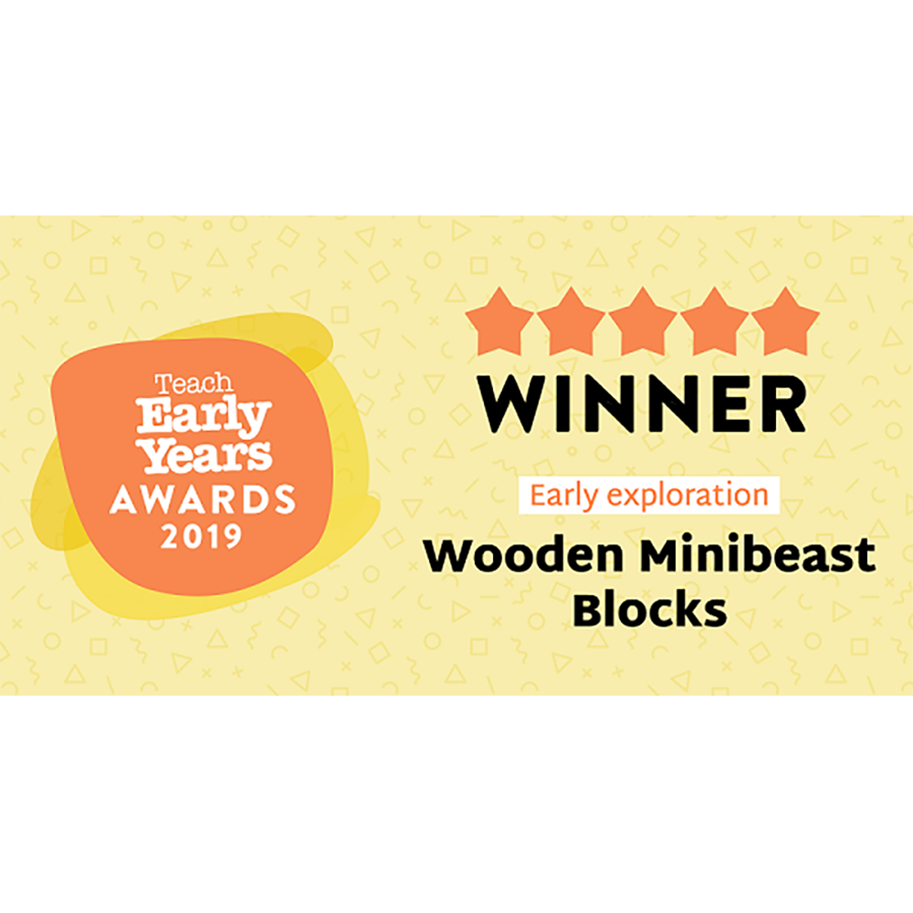 Wooden Minibeast Blocks - 33pk
