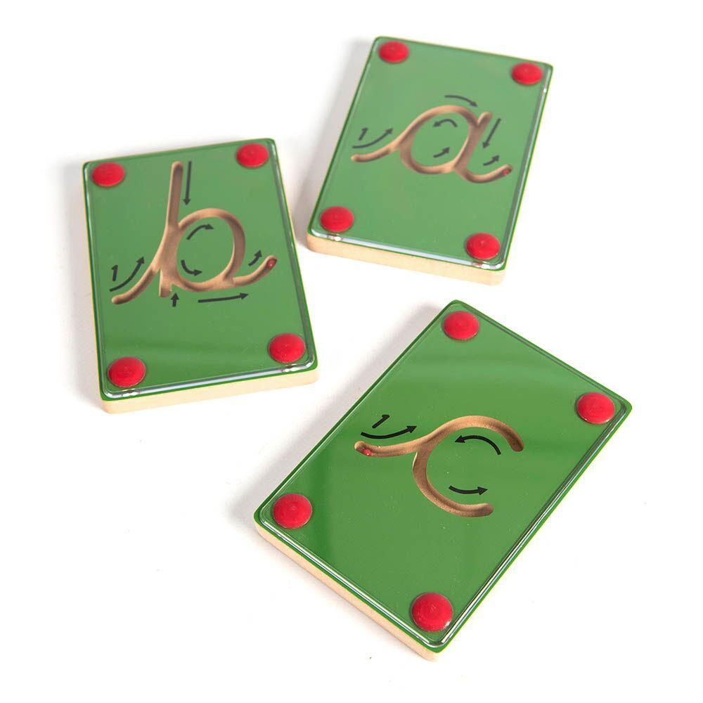 Wooden Blocks Magnetic Cursive Letters 26pcs