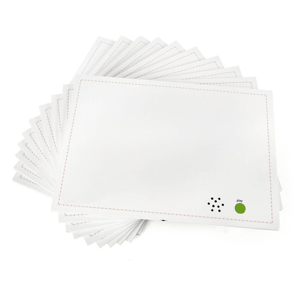 A4 Talk-Time Recordable Card 30 Second 10pk