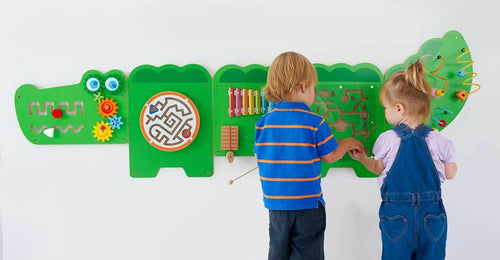 Crocodile Manipulative Fine Motor Wall Panel