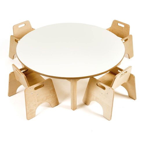 Toddler Circular Table H380mm and Four Chairs
