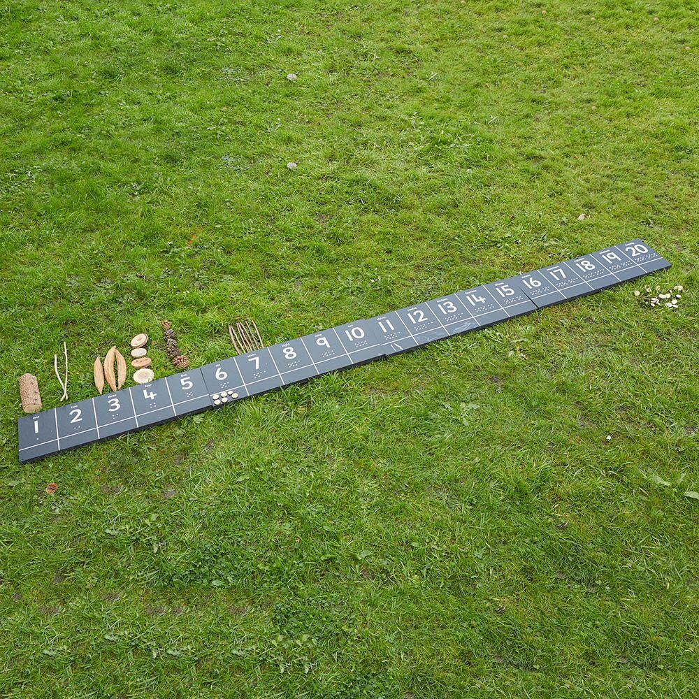 Outdoor Chalkboard Number Tracks 1-20