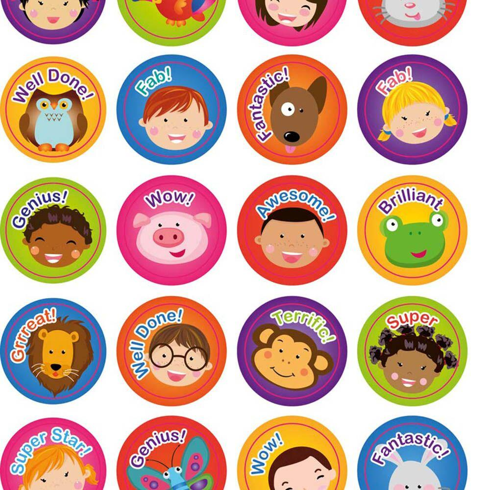 Faces and Animals Praise Stickers
