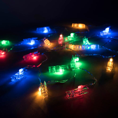 Peg Lights Multi-Coloured