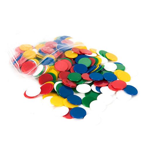 Multicoloured 20mm Plastic Counters 250pk
