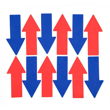 Rubber Floor Markers Arrows 12pk