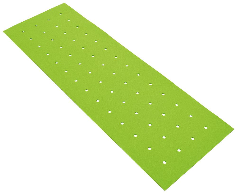 Rectangular silencing barrier with holes - green