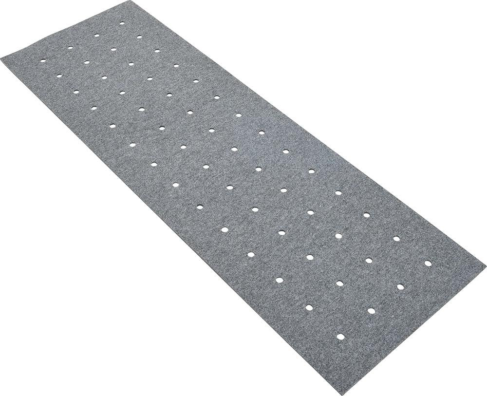 Rectangular silencing barrier with holes - grey