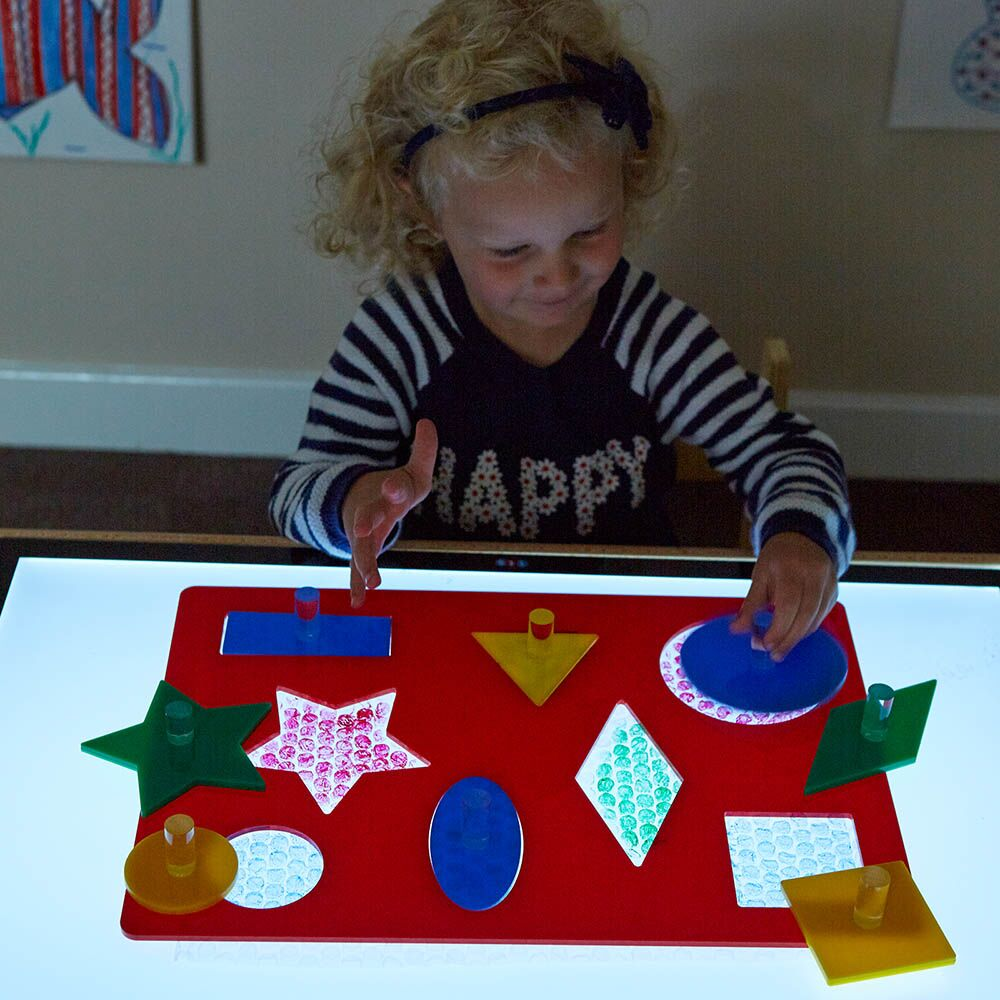 Lightbox Acrylic Shape Sorter Board