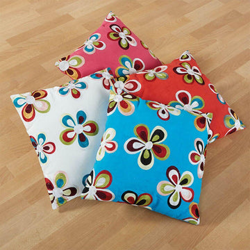 Colourful Embroidered Cushions 40 x 40cm 4pk