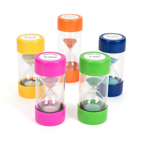 Large Plastic Sand Timers 2 minutes