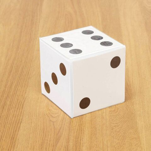 PVC Dice with Card Insert Pockets