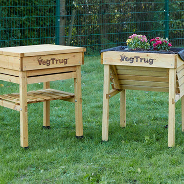 Veg Trug Kids Work Bench Natural Wood