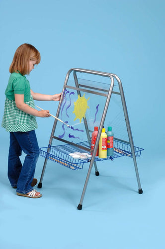Floor standing adjustable easel