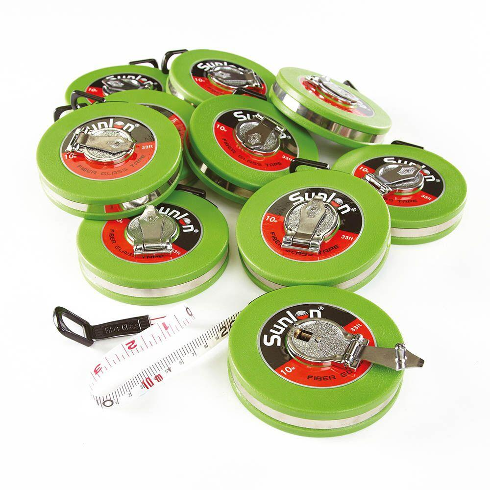 Wind Up 10m Measuring Tape 10pk