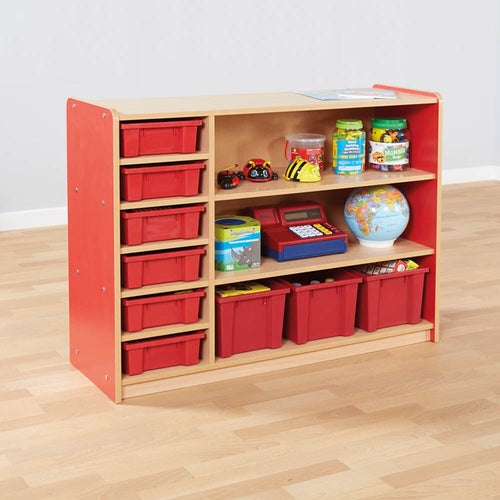 Copenhagen Bookcase and Tray Storage Red