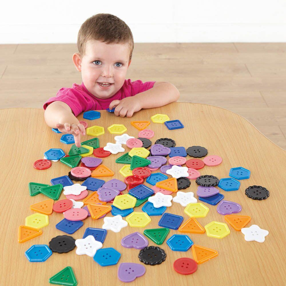 Giant Button Counters Assorted Colours 90pcs
