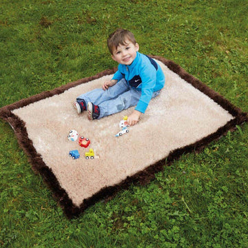 Soft Brown and Cream Outdoor Carpet W80 x L100cm