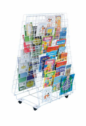 Double Sided Mobile Book Rack - EASE
