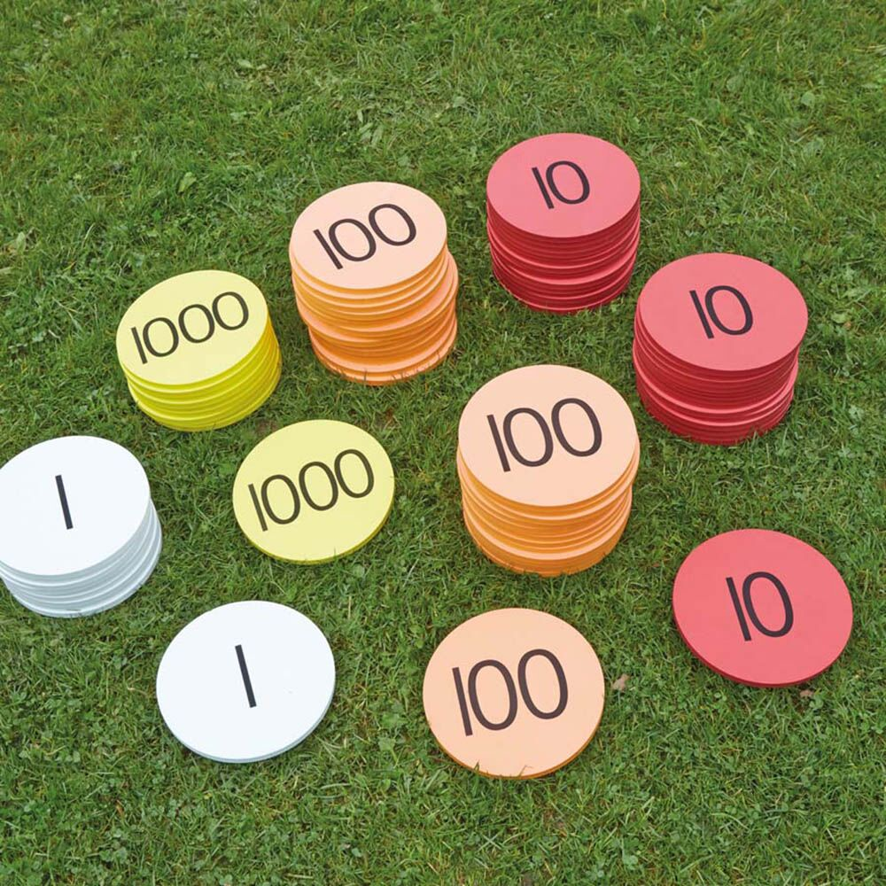 Outdoor Place Value Foam Counters 80pcs