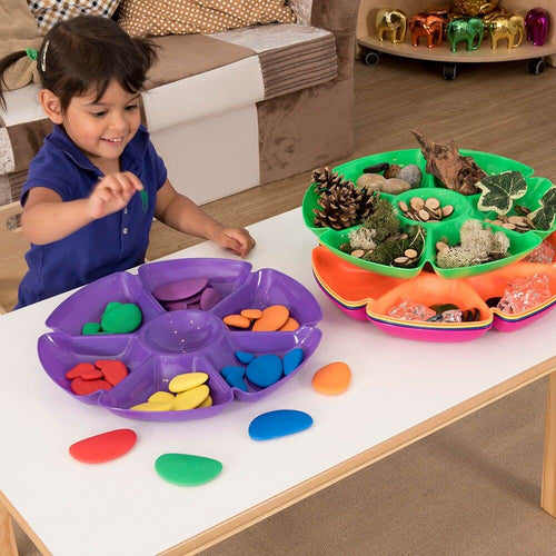 Assorted Colour Flower Sorting and Paint Trays 6pk