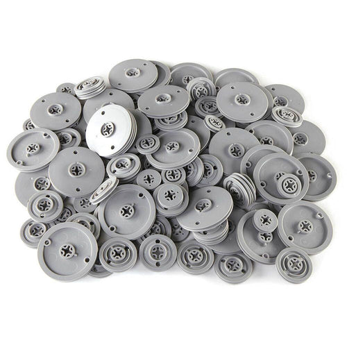 Assorted Plastic Pulleys 60pk