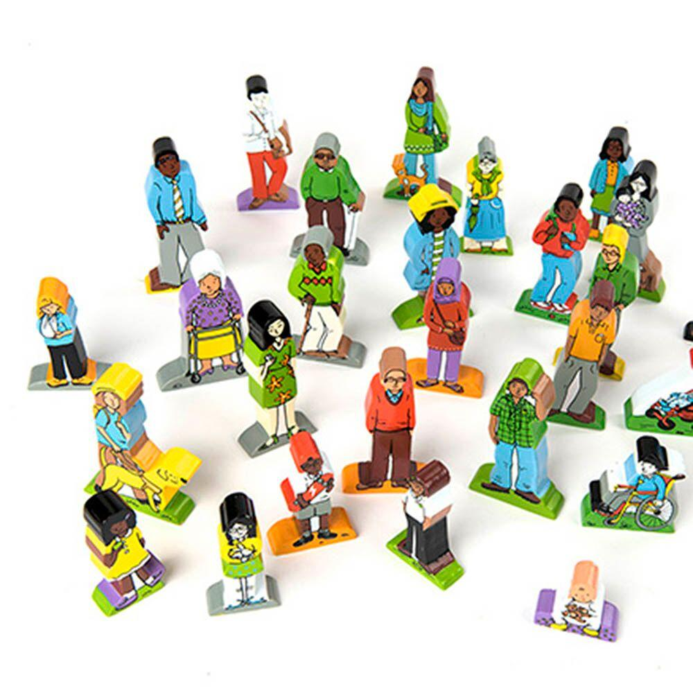 Families and Friends Wooden Characters 25pcs