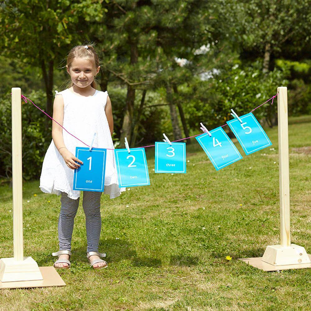 Large Washing Line with Pegs