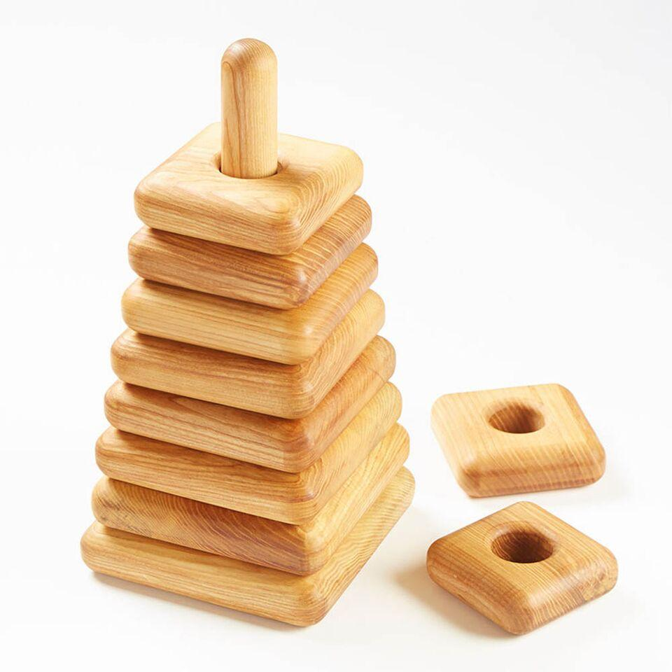 Giant Triangular Wooden Stacking Pyramid