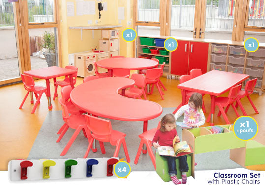EASE Classroom with Plastic Chairs 38cm