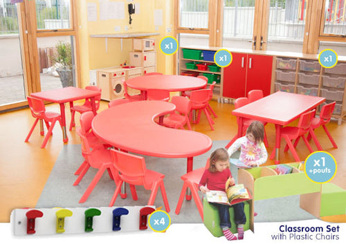 EASE Classroom with Plastic Chairs 30cm