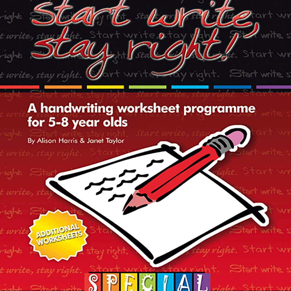 Start Write Stay Right Handwriting Worksheets 5-8