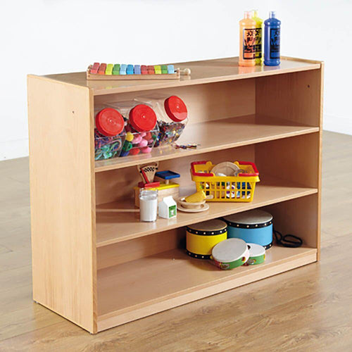 Classic Beech Three Shelf Bookcase