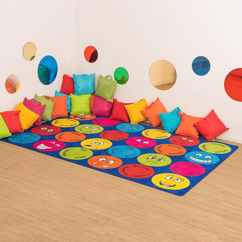 Emotions Faces Interactive Rectangular Rug