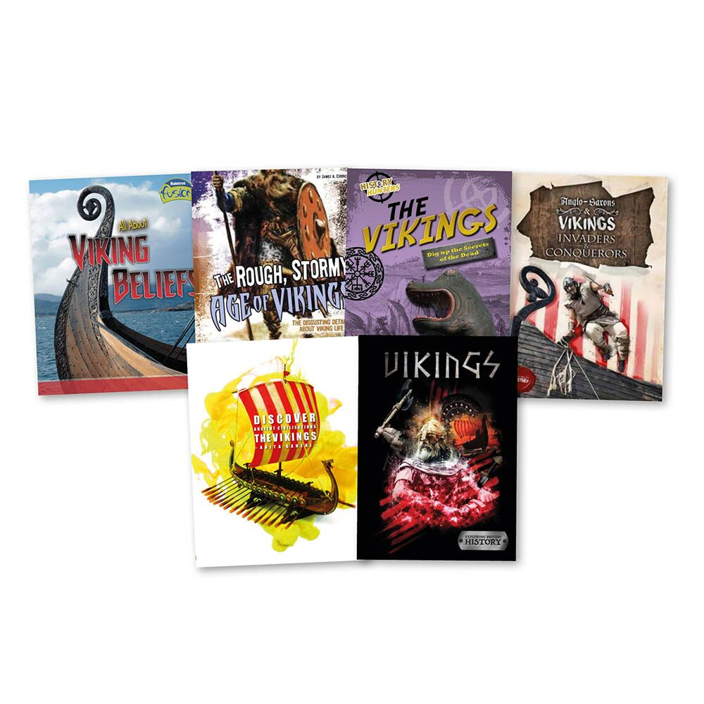 The Vikings Books 6pk