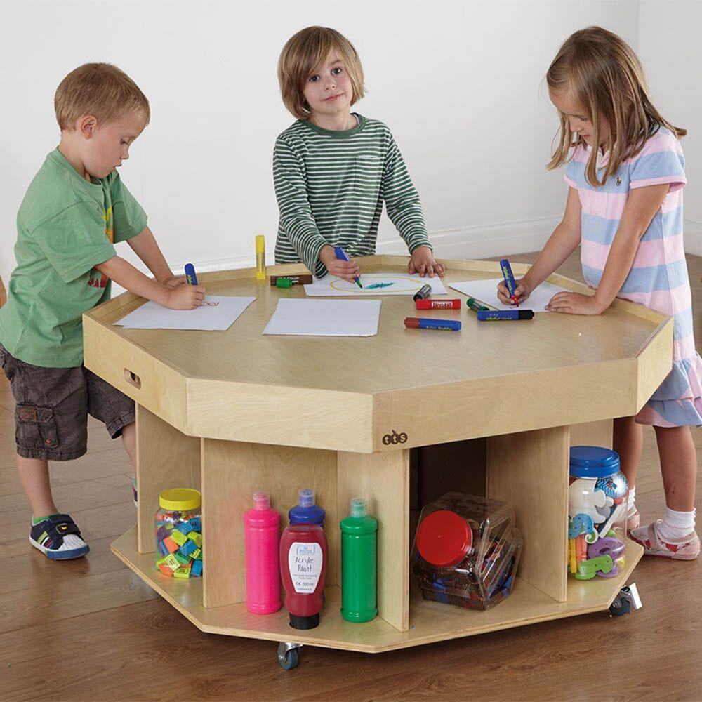 Active World Wooden Table D100 x H58cm